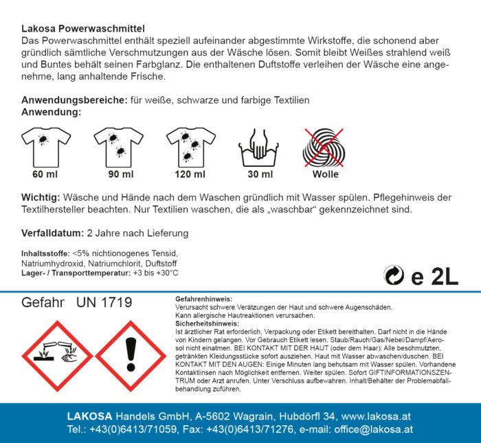 Lakosa Power Waschmittel 2 L
